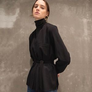 Oak + Fort Blouse 2895 Black Size XS